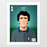juventus Art Prints featuring Zoff 1982 by boobee