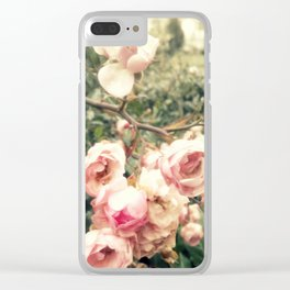 vague memory and roses Clear iPhone Case