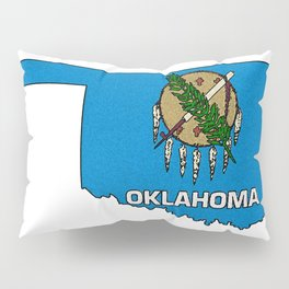 Oklahoma Map with State Flag Pillow Sham