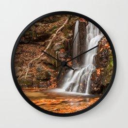 Orange Grove Waterfall Wall Clock