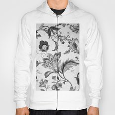 Floral Black and White Hoody