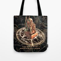 cthulhu Tote Bags featuring Cthulhu by TheMagicWarrior