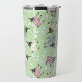 Pajama'd Baby Goats - Green Travel Mug