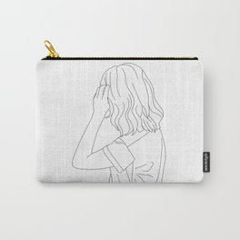 Fashion illustration line drawing - Cain Carry-All Pouch