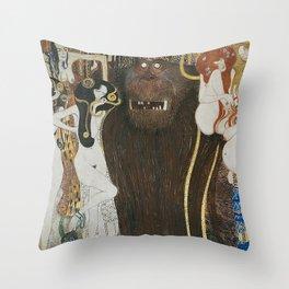 BEETHOVEN FRIEZE - GUSTAV KLIMT Throw Pillow