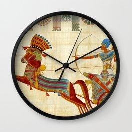 egyptian tutunkhamun pharaoh design Wall Clock