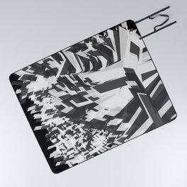 Shades Of Grey Picnic Blanket