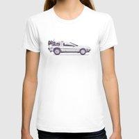 car T-shirts featuring Famous Car #2 - Delorean by Florent Bodart / Speakerine