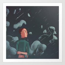 Day 0275 /// Heavyschmeavy Rain Art Print