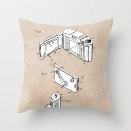 patent art Frye Roll film camera 1950 Throw Pillow