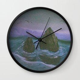 Rocks on The Beach Wall Clock