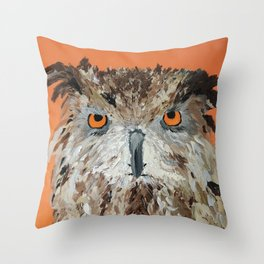 Wise Owl.  Hootie, Who, Who Throw Pillow