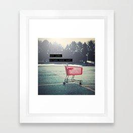 Grocery Cart Rage  Framed Art Print