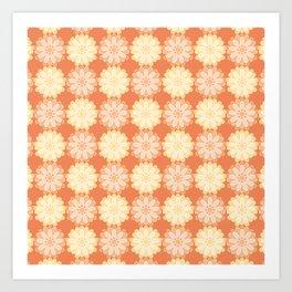 Yellow and Orange Scotch Marigold Pattern Art Print