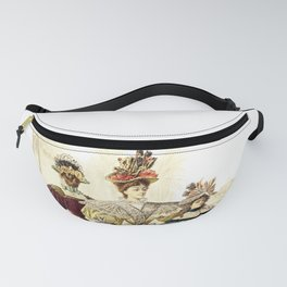 Victorian Ladies Vintage Design Fanny Pack