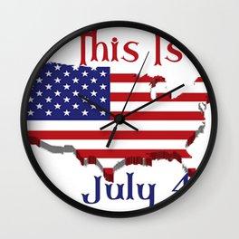 July 4 1776 America Wall Clock
