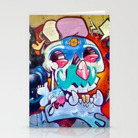 grafitti Stationery Cards featuring Grafitti Clown by Valann