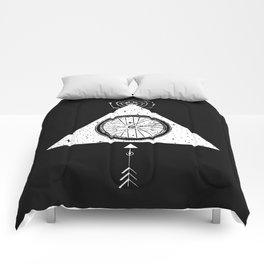 geo black bike Comforters
