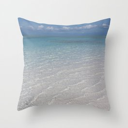 Bahamian Sandy Cay Throw Pillow