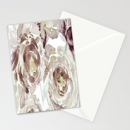 Earthy Painterly Floral Abstract Stationery Cards