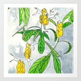 Caribbean Candela flower Art Print