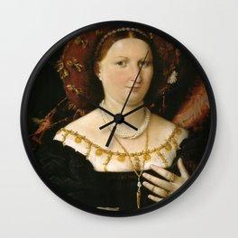 Lorenzo Lotto - Portrait of Lucina Brembati Wall Clock