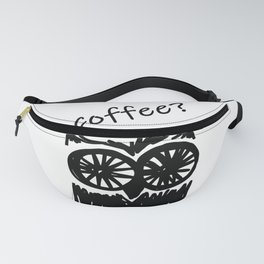 Coffee? Morning owl mint print Fanny Pack