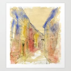 Streets of France Art Print