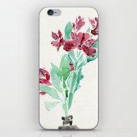 peru iPhone & iPod Skins featuring Peru Lilies by Kate Havekost Fine Art