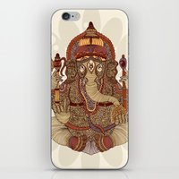 ganesha iPhone & iPod Skins featuring Ganesha: Lord of Success by Valentina Harper