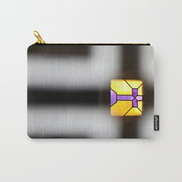 Illuminated Stained Glass Cross Carry-All Pouch