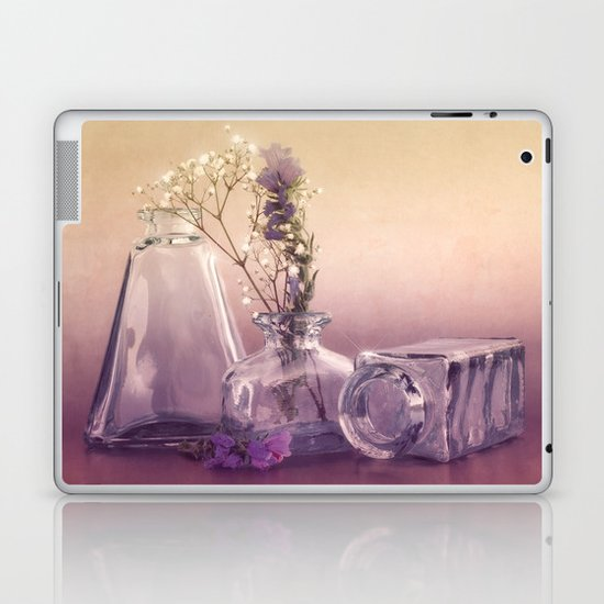 STILL LIFE with purple glass vases and flowers Laptop & iPad Skin
