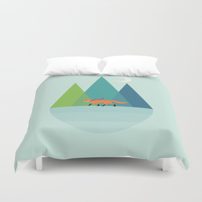 Walk Alone Duvet Cover