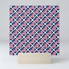 Mix of flag : usa and scotland Mini Art Print