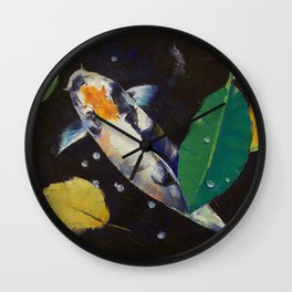 Kumonryu Koi Art Wall Clock