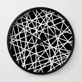 Lazer Dance B&W 1 Wall Clock