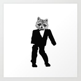 Twisted Raccoon Art Print