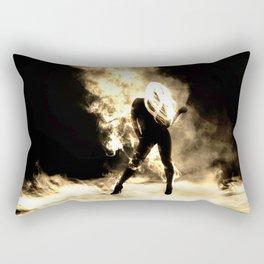 Sexy Fire Girl Rectangular Pillow