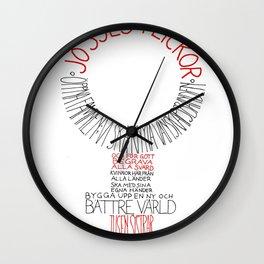 Jösses flickor Wall Clock