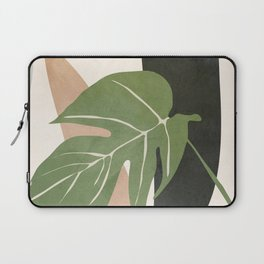 Abstract Monstera Leaf Laptop Sleeve