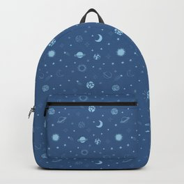 Stars and Planets Pattern - Blue Backpack