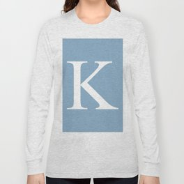 Letter K sign on placid blue background Long Sleeve T-shirt
