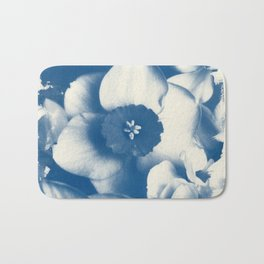 Petals by the Sea [Cyanotype Blue] Bath Mat