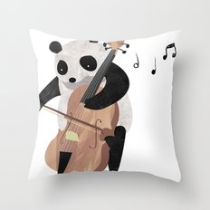 Mr. Paws Throw Pillow