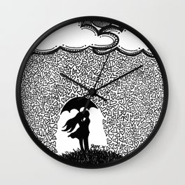 Shower of Love Wall Clock