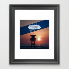 Those Summer Nights (Reprise) Framed Art Print