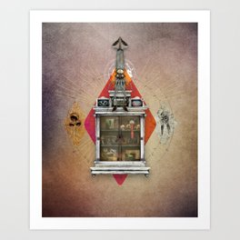 Squid Ascendant Upon the Cabinet of Thackery v.1 Art Print