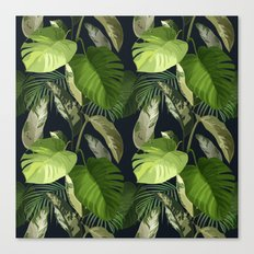 Tropical Leaf Pattern 1 Canvas Print