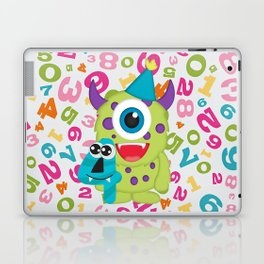 Birthday Monsters 4th Birthday Laptop & iPad Skin