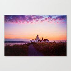 Discovery Park Lighthouse at sunset Canvas Print